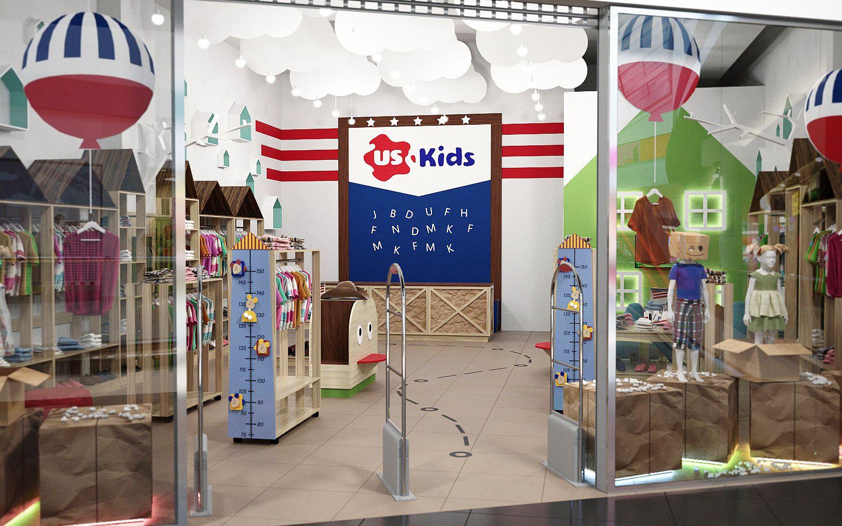 5618367e0604 2 апреля в ТРК «Проспект» открылся мультибрендовый магазин детской одежды  USKids, площадь которого составляет 96 кв. м